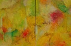 De loop der dingen, tweeluik, acrylic, mixed media