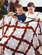 Crocheted Snowflake Afghan ~ Patons Design Studio - Canadian Living