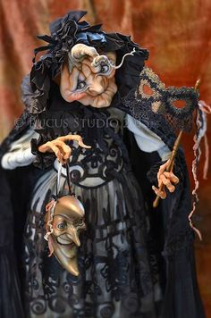 Off to the masquerade ball. Original pumpkin art doll created by Scott Smith of Rucus Studio © 2015