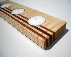 Image result for wooden candle holders