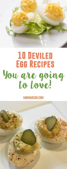 10 Deviled Egg Recipes to Try because Spring and Easter are the best time to start learning new deviled egg recipes! #deviledeggs #eggs