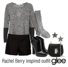 """""""Rachel Berry inspired outfit/Glee"""" by tvdsarahmichele ❤ liked on Polyvore featuring Max Studio, Marni, Giuseppe Zanotti, Chloé, Dana Rebecca Designs and Bling Jewelry"""