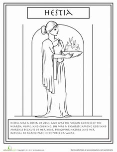 Greek Gods: Hestia Greek Gods: Hestia Did you know Zeus had a sister, Hestia, the goddess of hearth an home? Learn all about her with a fun coloring page! Greek And Roman Mythology, Greek Gods And Goddesses, Norse Mythology, Greek History, Ancient History, Roman Gods, Greek Art, Wicca, Pagan