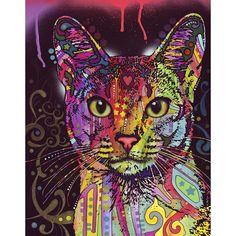 Abyssinian Cat Wall Sticker Decal - Animal Pop Art by Dean Russo