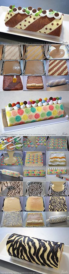 The Cake Decorating Business Cake Icing, Cupcake Cakes, Bolo Original, Swiss Roll Cakes, Cake Roll Recipes, Patterned Cake, Log Cake, Cake Decorating Tips, Occasion Cakes