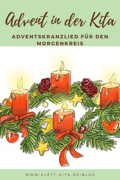 It is already Advent – an Advent wreath song for the morning circle Velcro daycare - Christmas Pictures