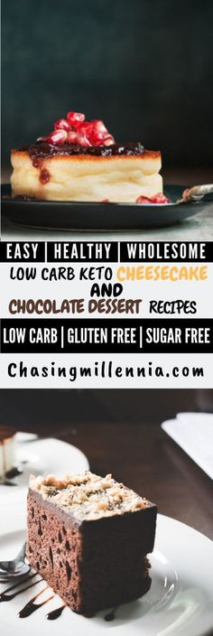 I've curated some of the best low carb dessert recipes that you are going to find. All recipes here are sugar free, gluten free & diabetic friendly. Sugar Free Cheesecake, Low Carb Cheesecake Recipe, Sugar Free Desserts, Lemon Cheesecake, Low Carb Sweets, Low Carb Desserts, Easy Desserts, Healthy Desserts, Low Carb Chocolate