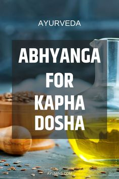 Abhyanga for Kapha Dosha. For oily skin (Kapha) choose a light carrier oil such as flaxseed, corn, canola or safflower and mix with an invigorating herbal oil. Alternatively, buy a pre-prepared oil from a reputable Ayurvedic company specifically tailored to the Kapha Dosha.   #ayurvedaforlife  #ayurvedicmedicine  #doshas #pranayama  #Kapha  #Pitta  #Vata Ayurvedic Healing, Ayurvedic Diet, Ayurvedic Recipes, Ayurvedic Remedies, Ayurvedic Medicine, Holistic Medicine, Ayurveda What Is, Ayurveda Yoga, Gut Health