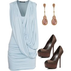 Light Blue Dress, created by wherecoconutgrows on Polyvore