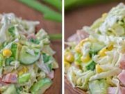 Labužnický salát pobláznil celou naši rodinu: 1 hlávka zelí, šunka, kukuřice a 5 minut přípravy Potato Salad, Potatoes, Vegetables, Ethnic Recipes, Potato, Vegetable Recipes, Veggies
