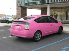 A #pink Toyota Prius - good for the #environment and it looks pretty cool too!