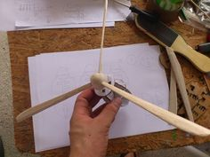 Cardboard wind generator for models