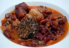 Asopaipas. Recetas de Cocina Casera                                                               .: Alubias Rojas con Costillas Adobadas