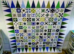 DJ Quilt top (Blue/Green BabyJane) by KalaBr, via Flickr   Vibrant Jane colors!