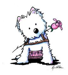 West Highland Terriers Art - Highland Princess by Kim Niles