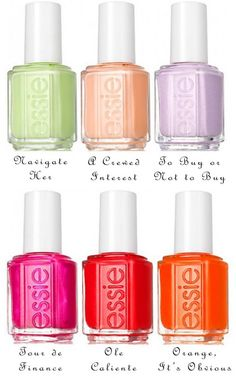 @Essie Spring collection - What's your favorite color if you can pick one that is? :) #nails