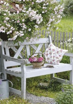 Card Ranges » 3554 » Trug of freshly cut roses on a garden bench - Abacus Cards - Greetings Cards, Gift Wrap & Stationery