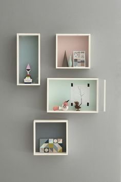 good way to display - pastel shadow boxes