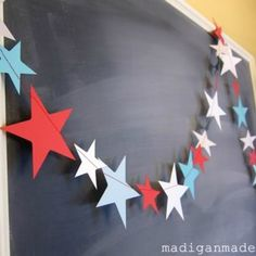 fourth of july star garland