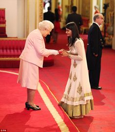 Devika Malik from India meets the Queen