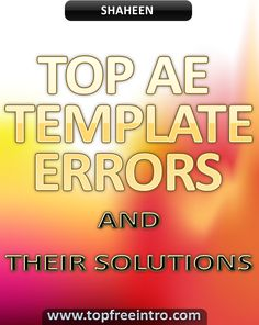 top ae template errors and their solutions