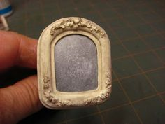 Dollhouse Miniature Furniture - Tutorials | 1 inch minis: 1 INCH SCALE ANTIQUE MIRROR - How to make a 1 inch scale antique mirror with mat b...