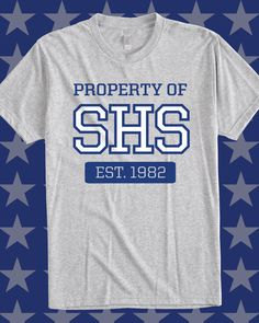 Property of SHS - Est. 1982 varsity school athletics custom shirt - design idea for custom class shirt - school spirit, school sports, athletics, football, vintage, varsity, gym, sports, heather, high school