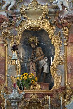 Scourged Saviour - Wieskirche. Steingaden, Oberbayern. Christian World, Christian Art, Home Altar, Small Sculptures, Roman Catholic, Kirchen, Religious Art, Deities, Beautiful Landscapes