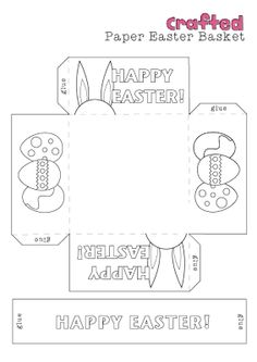 Printables to include make a small paper basket its easy and easter craft printable easter basket negle Image collections