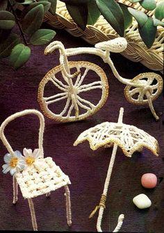 Поделки своими руками: зонтик-миниатюра, связанный крючком