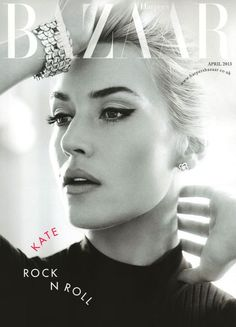 Kate Winslet photographed by Alexi Lubomirski on the cover of UK Harper's Bazaar, April 2013.