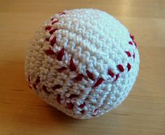 This quick project makes a nice gift for a baby or toddler, or baseball fan! It can be made from leftover stash.