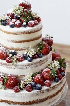 Naked Cake Geburtstagstorte / Hochzeitstorte selber machen - mit Anleitung... sie sieht nicht nur köstlich aus, sie schmeckt noch viel besser!!!
