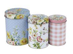 Creative Tops Katie Alice English Garden Shabby Chic Nested Kitchen Storage Tins #CreativeTops