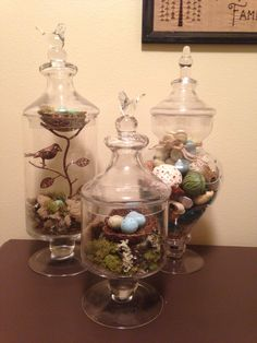 My new bird apothecary jars!