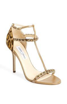 Jimmy Choo leopard print calf hair sandal - 60% off! http://rstyle.me/n/u4gwznyg6