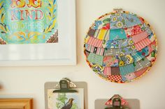 cute! ~ diy layered fabric hoop ~ ashleyannphotography