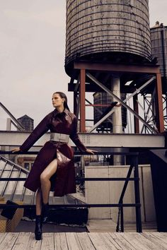 Industrial Rooftop Editorials : Fashion Magazine 'Skin Test' Editorial