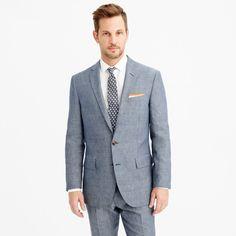 Ludlow suit jacket in Italian wool-linen