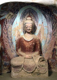 5世紀 (北魏)莫高窟第259窟 南壁前部  禪定佛