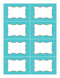 Free Blank decorative tags in fun colors with damask background and ...
