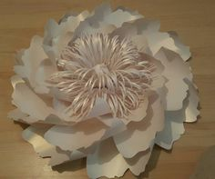 Giant Paper Flowers Decoration-White-Table and Chair Decorations-Wedding Decorations-Birthday-Paper Flower Backdrop-Paper Flower Wall