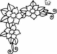 Flores pequeñas para colorear e imprimir