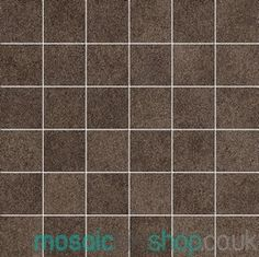 Soil Mosaic - A brown stone effect porcelain mosaic tile suitable for both walls and floors. inc VAT per Sheet - (Individual tile size - Sheets per Sqm: 11