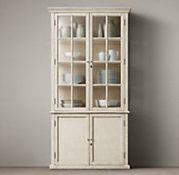 """Hampton Casement Double-Door Panel Sideboard & Glass Hutch.  39""""W x 16""""D x 91""""H is the perfect size!"""
