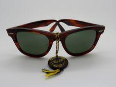 Vintage B&L Ray Ban W0949 G15 Tortoise Wayfarer Childrens Size *NOS* V/Rare! by VSOx on Etsy