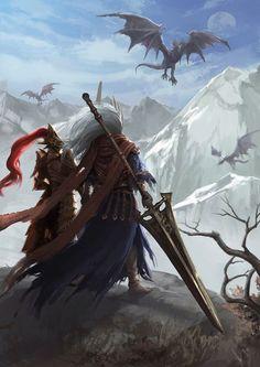 Ornstein and Nameless King Ornstein Dark Souls, Comic Collage, Arte Dark Souls, Soul Saga, Character Art, Character Design, Dark Blood, Fantasy Warrior, Dark Fantasy Art