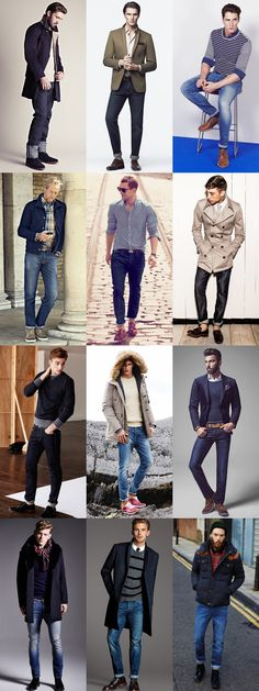 "2. Style Yourself With Flair And Purpose ""Looking good and dressing well is a necessity. Having a purpose in life is not,"" was Oscar Wilde's advice.  Men's Jeans Outfit Inspiration Lookbook"