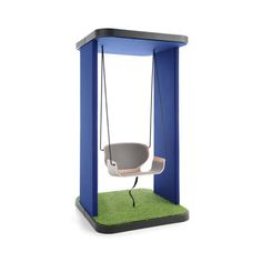 Single Swing is a funky and fun office swing set that can act as a place to take a break or a place for conversation and meetings with other. Walnut Veneer, Wood Veneer, Cool Office, The Office, Single Swing, Office Pods, Productivity In The Workplace, Office Environment, Floor Chair