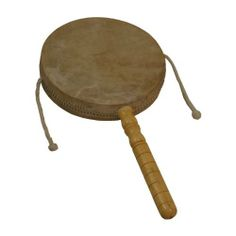 """Monkey Drum with Handle, 8"""" (Package Of 2) by DOBANI. $39.67. 8"""" diameter. Hand held two-headed drum on a stick, two corded bead beaters strike the heads when spun./!\ WARNING: CHOKING HAZARD - Small parts - Not for children under 3 years. (Package Of 2)"""